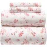 Westport Home Abundance Floral Sheet Set - Full, Organic Cotton, 300 TC