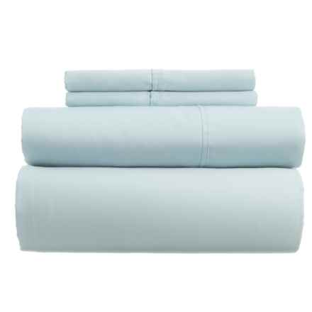 Westport Home Combed Cotton Sheet Set - King, 400 TC in Sky Blue - Closeouts