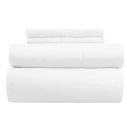 Westport Home Combed Cotton Sheet Set - King, 400 TC in White - Closeouts