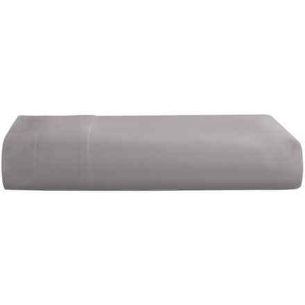 Westport Home Cotton Flat Sheet - Full, 600 TC in Slate Grey - Closeouts