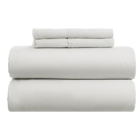 Westport Home Cotton Rich Sheet Set - Queen, 1000 TC in Light Grey