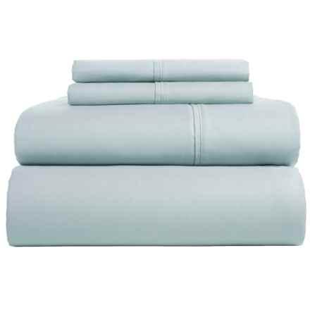 Westport Home Cotton Sateen Sheet Set - King, 300 TC in Blue - Closeouts