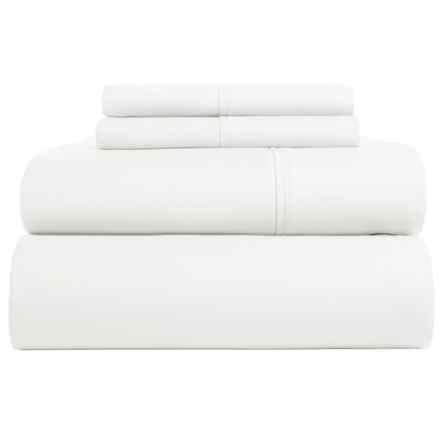 Westport Home Cotton Sateen Sheet Set - King, 300 TC in White - Closeouts
