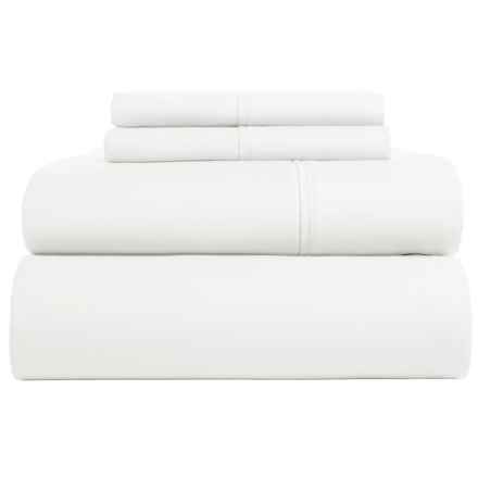 Westport Home Cotton Sateen Sheet Set - Queen, 300 TC in White - Closeouts