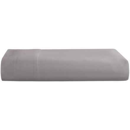 Westport Home Egyptian Cotton Flat Sheet - Full, 600 TC in Slate Grey - Closeouts