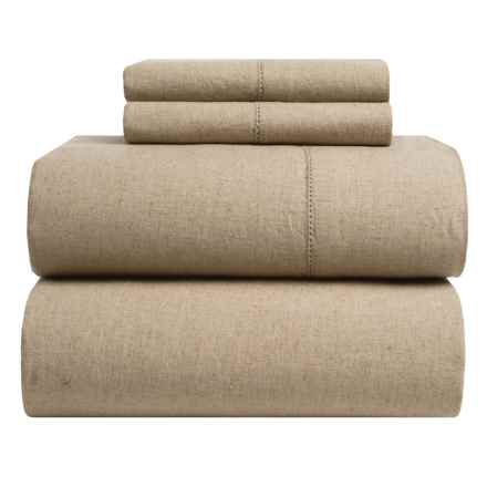 Westport Home Linen-Cotton Sheet Set - Full in Natural - Closeouts