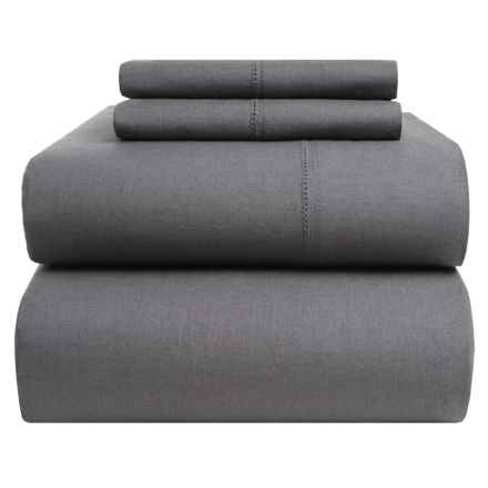 Westport Home Linen-Cotton Sheet Set - Queen in Grey - Closeouts