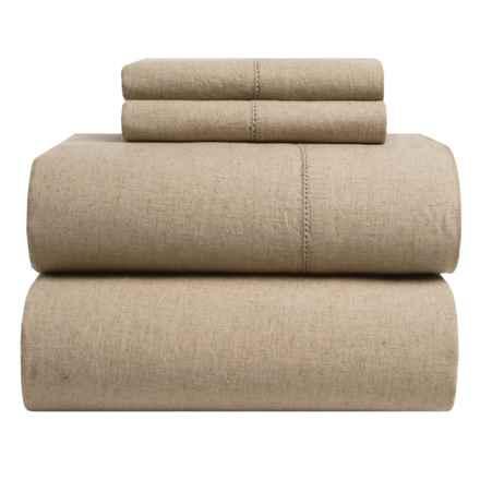 Westport Home Linen-Cotton Sheet Set - Queen in Natural - Closeouts