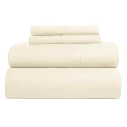 Westport Home Organic Cotton Sheet Set - Full, 500 TC in Butter - Closeouts