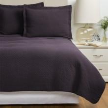 Westport Home Quilt and Sham Set - Twin in Brown / Plum - Overstock