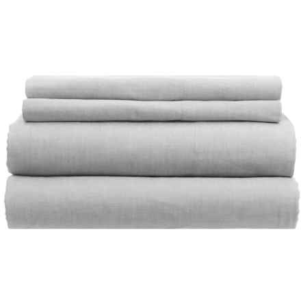 Westport Home Yarn-Dyed Chambray Sheet Set - Queen, 200 TC in Grey - Closeouts