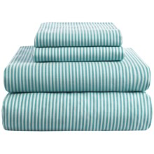 Westport Home Yarn-Dyed Sheet Set - Queen, 200 TC in Aqua - Overstock
