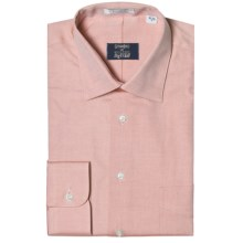 Westport Solid Dress Shirt - Spread Collar, Long Sleeve (For Big and Tall Men) in Melon - Closeouts