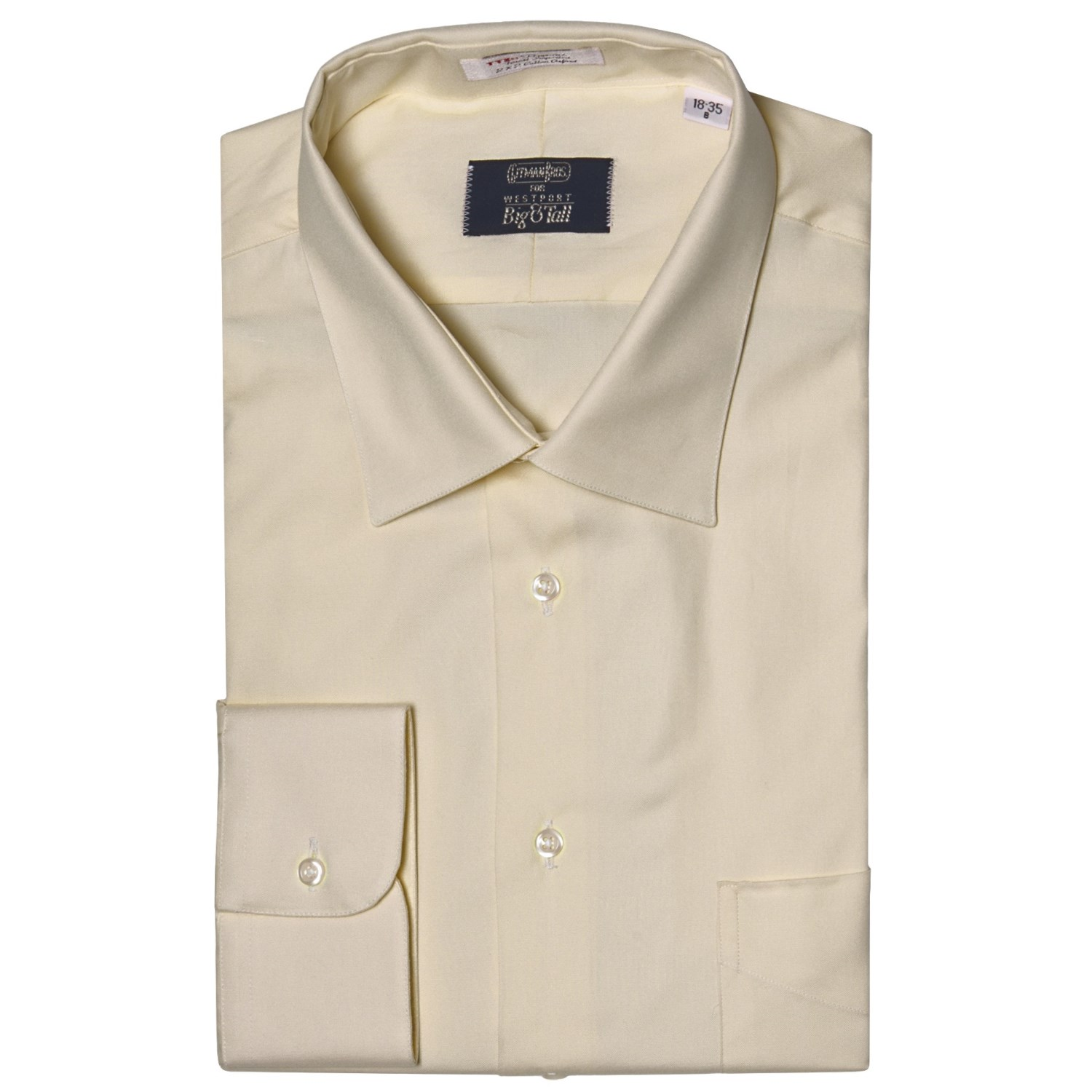 westport solid dress shirt spread collar long sleeve