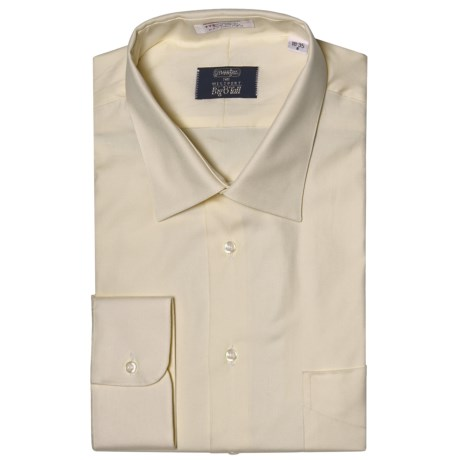 Westport Solid Dress Shirt - Spread Collar, Long Sleeve (For Big and Tall Men) in Melon
