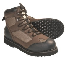 Wetfly Hydride Wading Boots - Rubber Sole (For Men and Women) in Green/Brown/Black - Closeouts