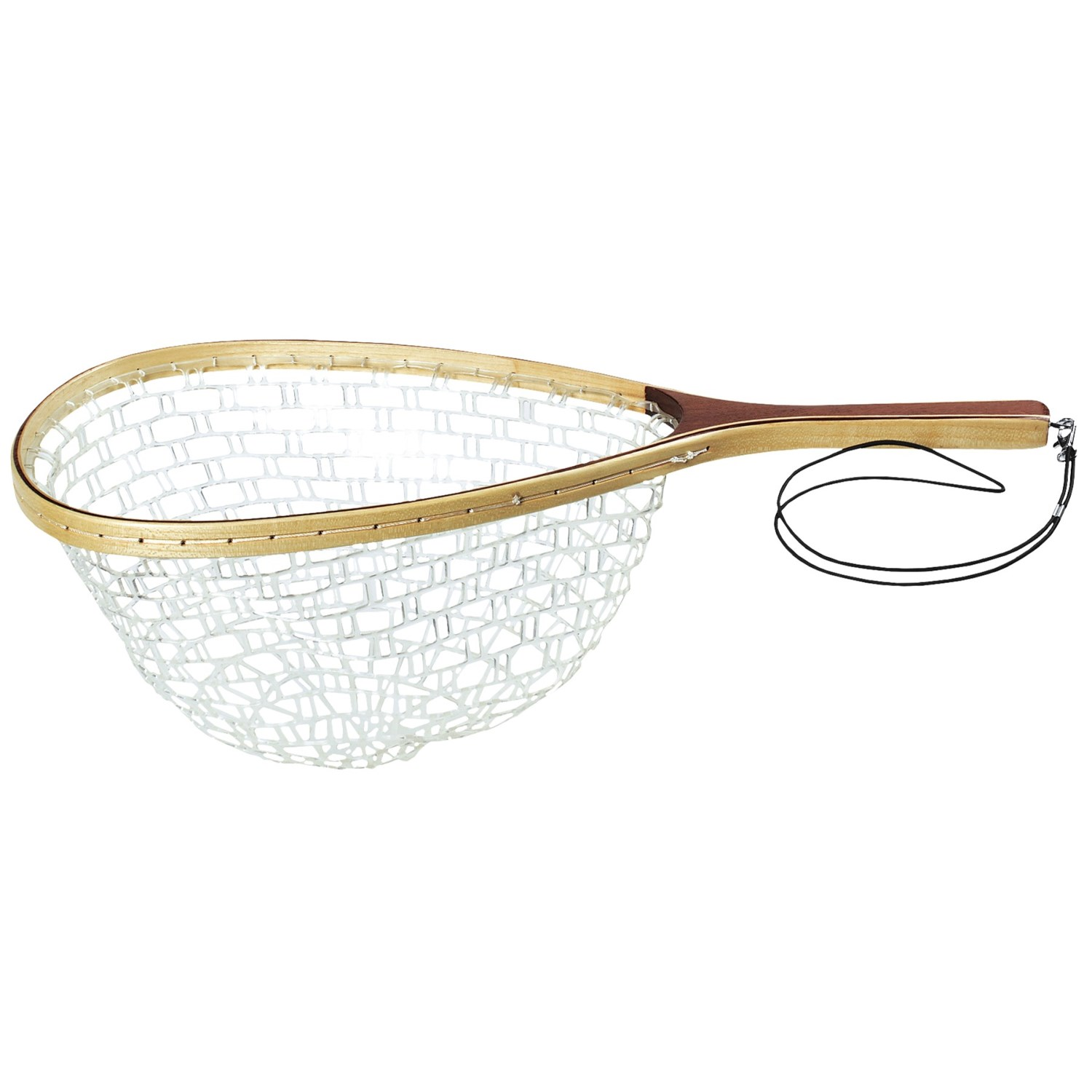 Wetfly rubber net with wooden handle small save 50 for Small fishing net