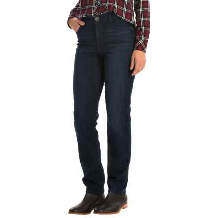 Whiskered Jeans - Slim Leg (For Women) in Navy - 2nds