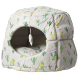 Whiskers & Co. Cactus Party Panel Hut Cat Dome Bed - 18""