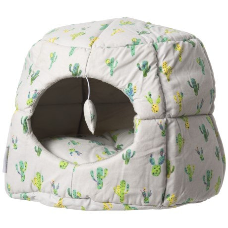 """Whiskers & Co. Cactus Party Panel Hut Cat Dome Bed - 18"""" in Multi"""