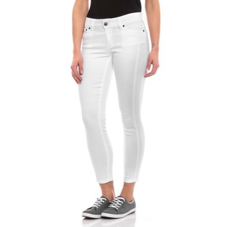 Image of White Carlotta Crop Pants (For Women)