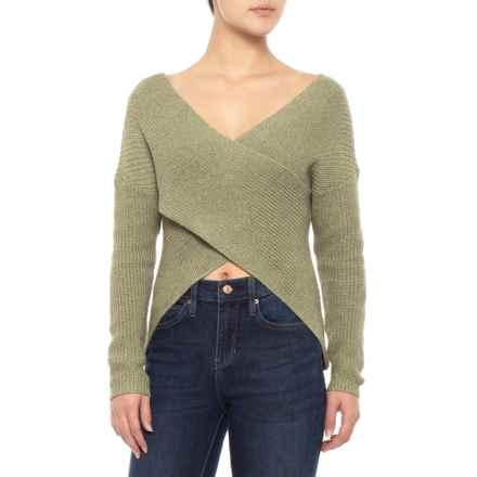 180c2307fef3df White Closet Australian Designer Criss Cross Sweater (For Women) in Khaki -  Closeouts