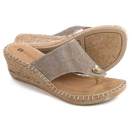 White Mountain Beachball Wedge Sandals (For Women) in Gold - Closeouts