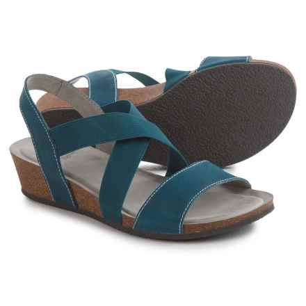 White Mountain Carlisa Crisscross Strap Sandals - Leather (For Women) in French Blue - Closeouts