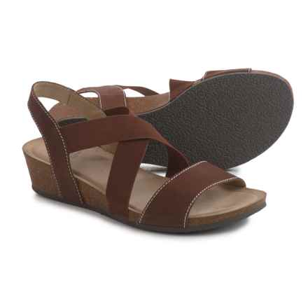White Mountain Carlisa Crisscross Strap Sandals - Leather (For Women) in Pecan - Closeouts