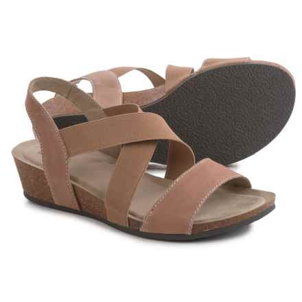 White Mountain Carlisa Crisscross Strap Sandals - Leather (For Women) in Sand - Closeouts