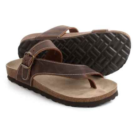 White Mountain Carly Sandals - Leather (For Women) in Brown - Closeouts