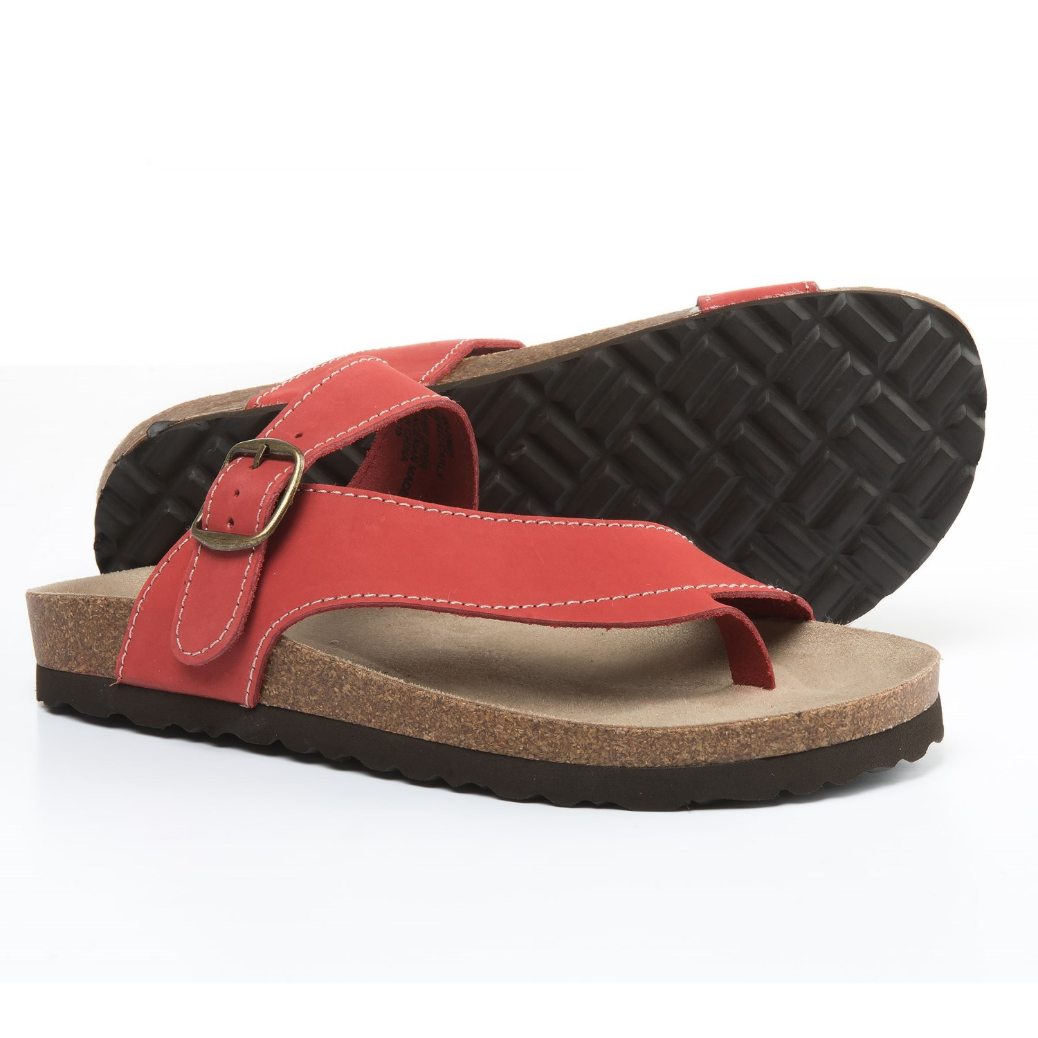White Mountain Carly Sandals - Leather (For Women) in Red ...