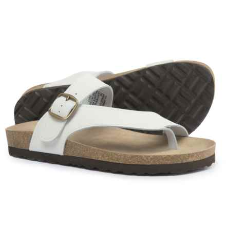 White Mountain Carly Sandals - Leather (For Women) in White - Closeouts