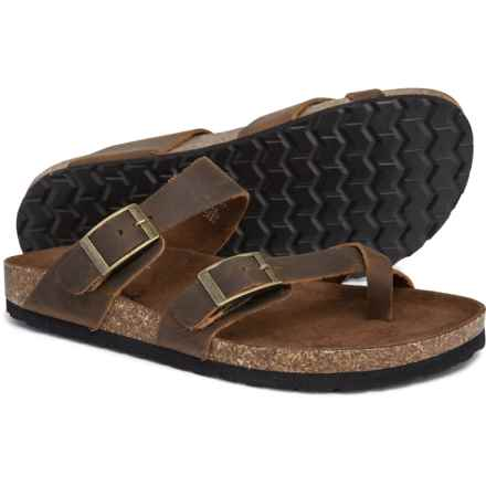 White Mountain Gracie Sandals - Leather (For Women) in Brown Leather