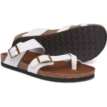 White Mountain Gracie Sandals - Leather (For Women) in White Leather