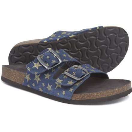 cfcc58d474c7bf White Mountain Helga Sandals - Suede (For Women) in Navy Stars