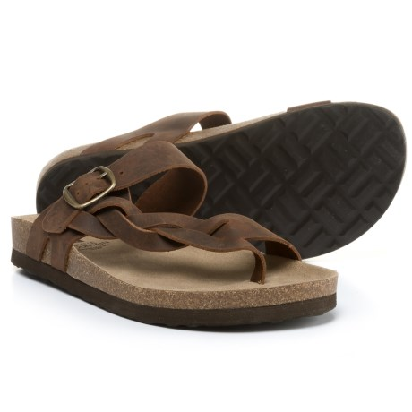White Mountain Honor Braided Sandals - Leather (For Women) in Brown Crazy
