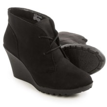 White Mountain Irma Wedge Boots (For Women) in Black - Closeouts