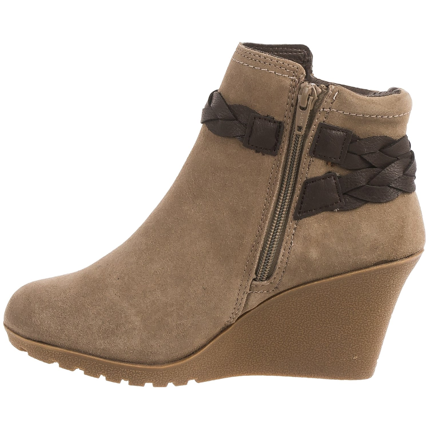 White Mountain Isabella Wedge Ankle Boots (For Women) - Save 82%