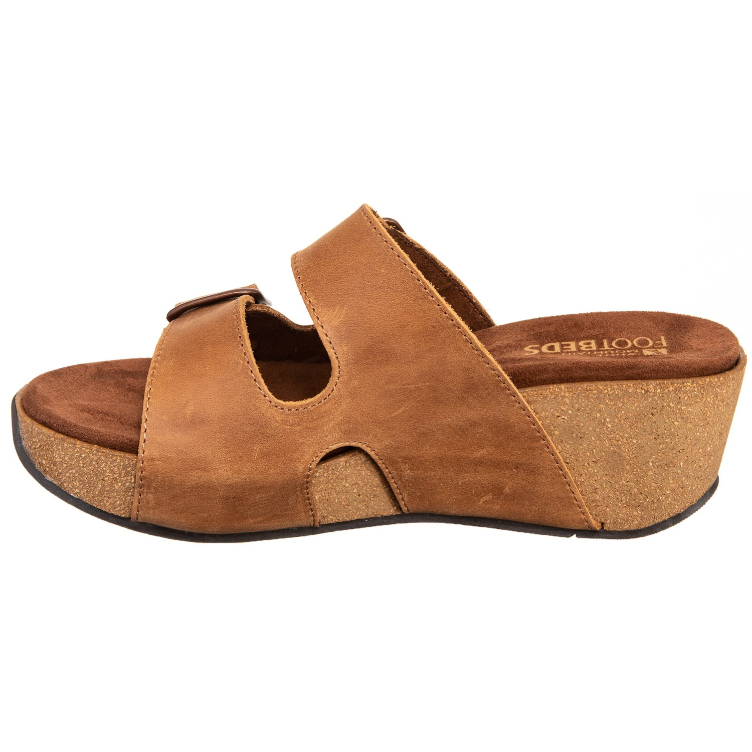 f8cacc486e White Mountain Leather Wedge Sandals (For Women) - Save 45%