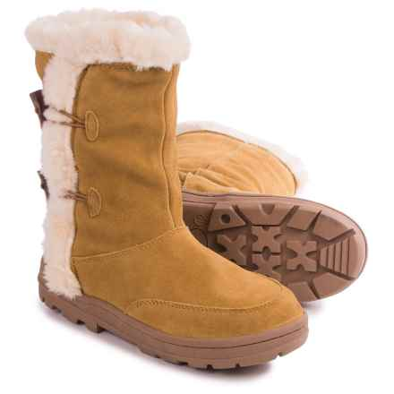 White Mountain Oliva Winter Boots - Suede (For Women) in Tan - Closeouts