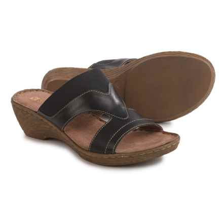 White Mountain Verna Sandals - Leather (For Women) in Black - Closeouts