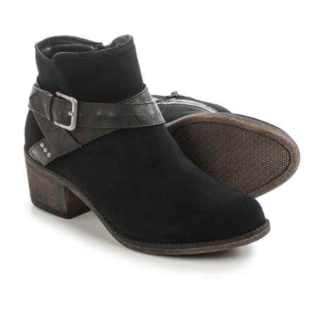 White Mountain Yonder Ankle Boots - Suede (For Women) in Black - Closeouts