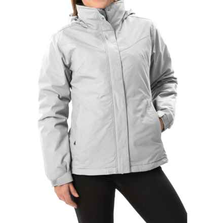 White Sierra 4-in-1 Jacket - Waterproof, Insulated (For Women) in Cloud - Closeouts