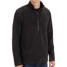 White Sierra Alpha Beta Fleece Shirt - Zip Neck, Long Sleeve (For Men) in Black - Closeouts