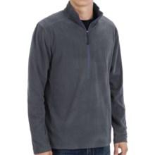 White Sierra Alpha Beta Fleece Shirt - Zip Neck, Long Sleeve (For Men) in Titanium - Closeouts