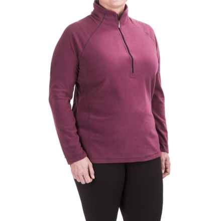 White Sierra Alpha Beta Fleece Shirt - Zip Neck, Long Sleeve (For Plus Size Women) in Crushed Grape - Closeouts