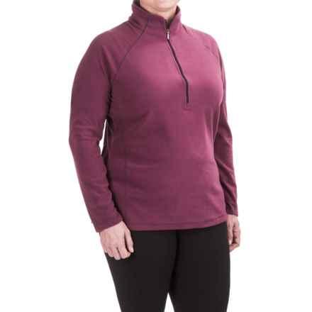 White Sierra Alpha Beta Fleece Shirt - Zip Neck, Long Sleeve (For Plus Size Women) in Crushed Grape - Closeouts