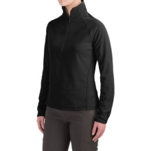 White Sierra Alpha Beta Fleece Shirt - Zip Neck, Long Sleeve (For Women) in Black - Closeouts