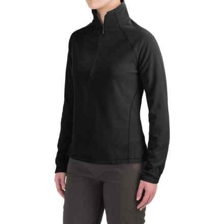White Sierra Alpha Beta Fleece Shirt - Zip Neck, Long Sleeve (For Women) in Black - Closeouts